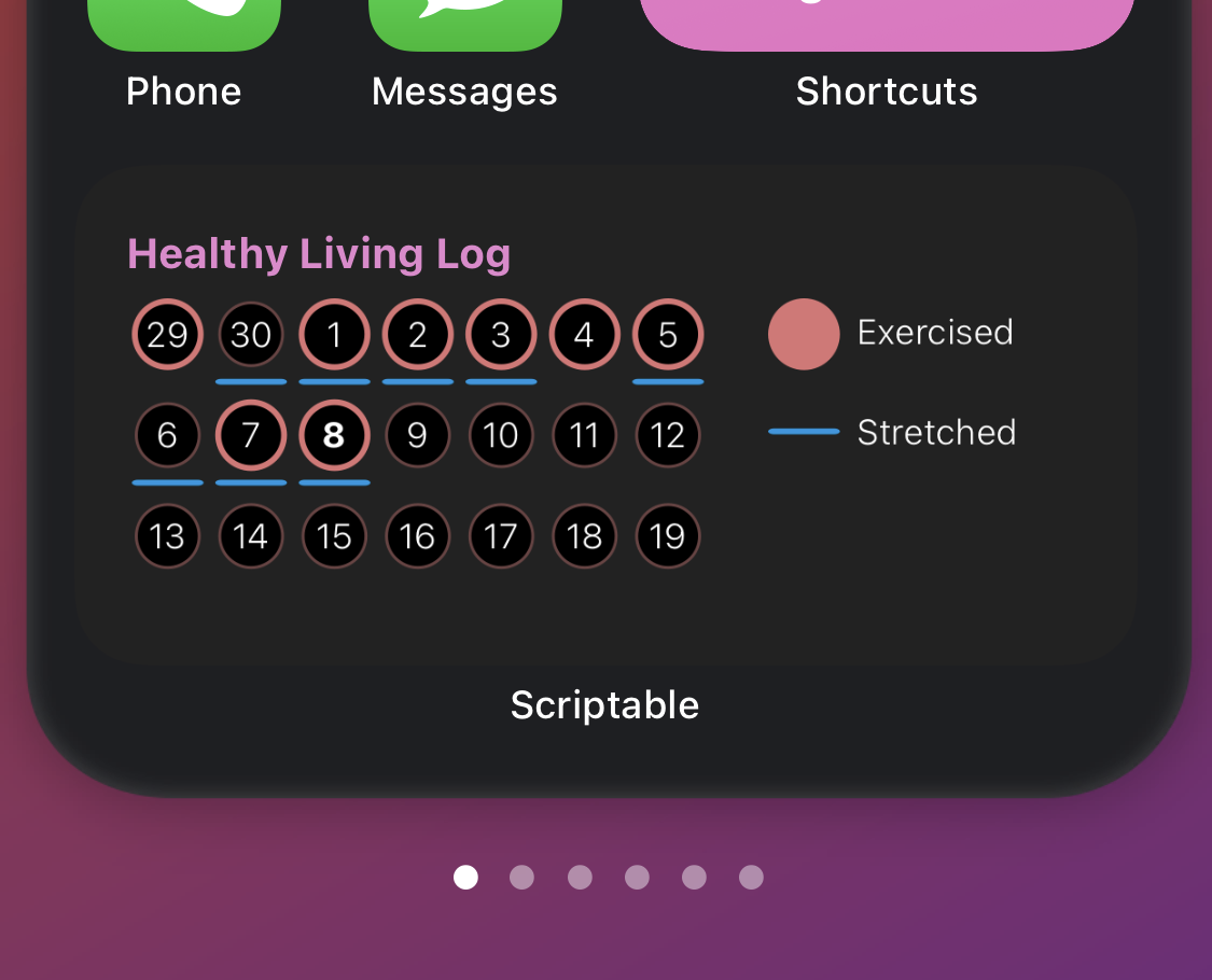 Building a Healthy Living Log with Scriptable